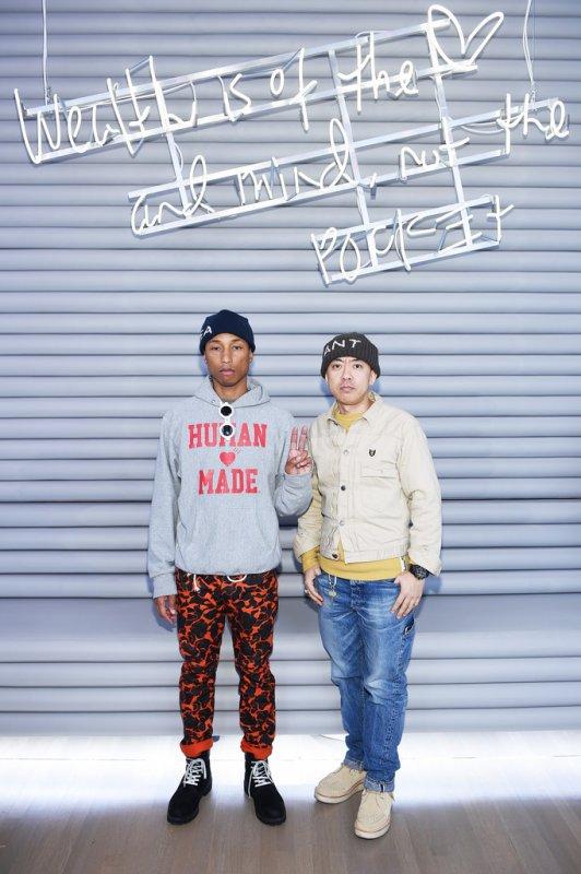 Pharrell - Ouverture de la nouvelle boutique BBC - NYC - 9 novembre 2016