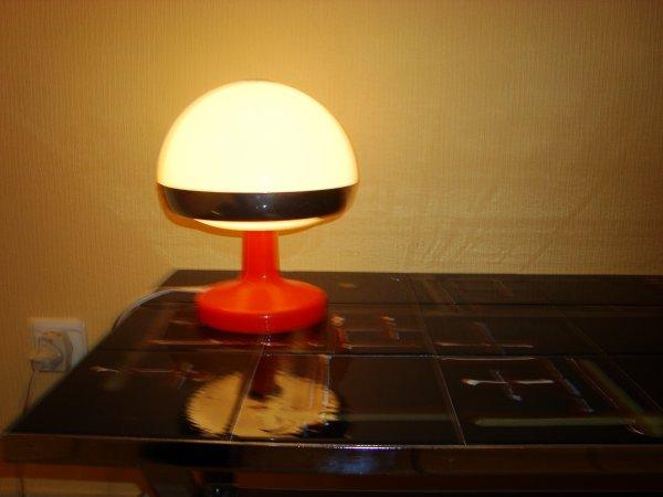 lampe de bureau table vintage 39 60 colani eames panton plastique orange d jixc. Black Bedroom Furniture Sets. Home Design Ideas