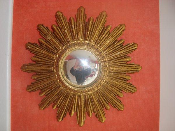 Petit miroir soleil 39 60 70 space age design oeil de sorci re bomb - Miroir oeil de sorciere ...