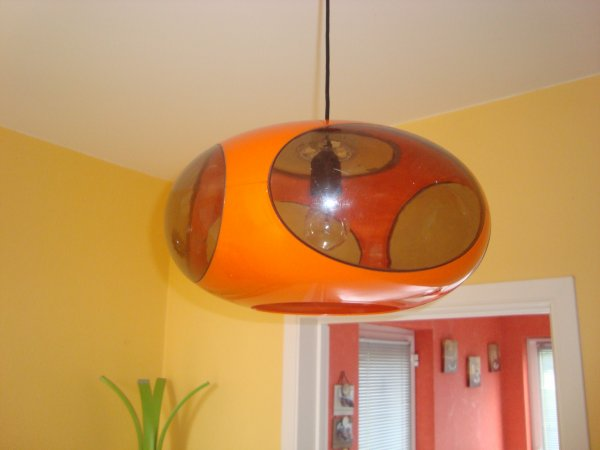 lampe ufo space age orange luigi colani design 39 70 vintage pop art d jixc. Black Bedroom Furniture Sets. Home Design Ideas