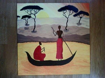 Paysage africain dessin de d d du90 - Dessin paysage africain ...