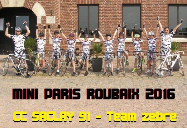 Le 1er Paris Roubaix de nos Minis Z�bres