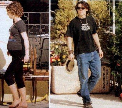 Vanessa enceinte de Lily-Rose