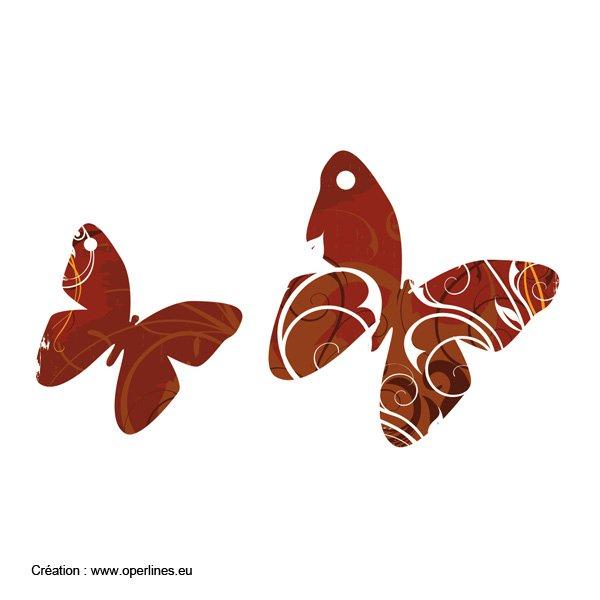 Tag scrapbooking motif papillon