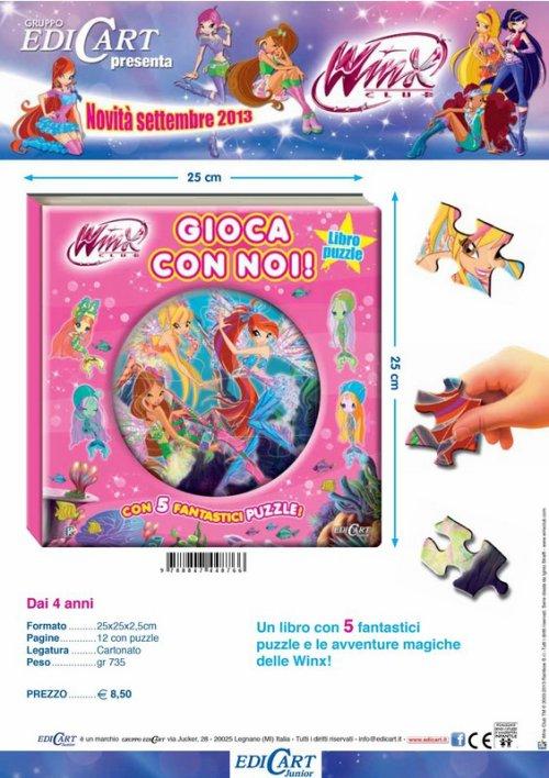 Winx Club saison 5 : livre Edicart italiens pour septembre 2013