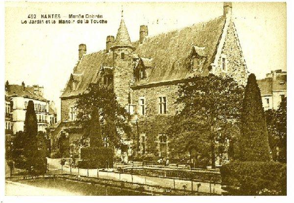 Manoir de la Touche ancienne résidence d'été de l'évêché de Nantes