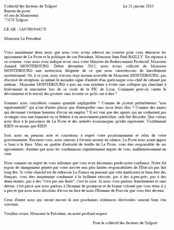 Modele Lettre Harcelement Document Online