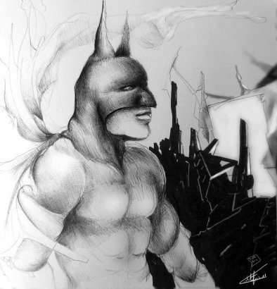 Batman The Dark Knight Rises drawing