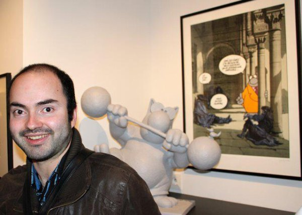Expo Philippe Geluck à la galerie petit papier