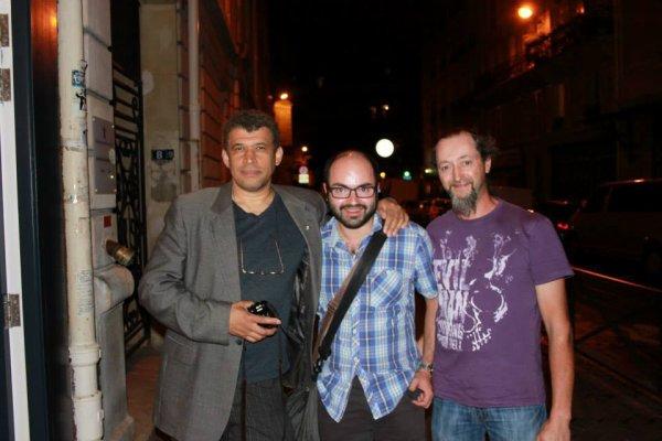 Visite � la galerie Barbier et Mathon ( rencontre avec Bilal, Druillet, Sylvain Despretz)