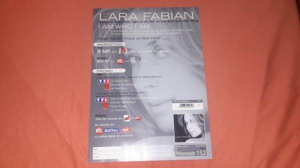 """plan m�dia Lara Fabian """"I am Who i am """""""