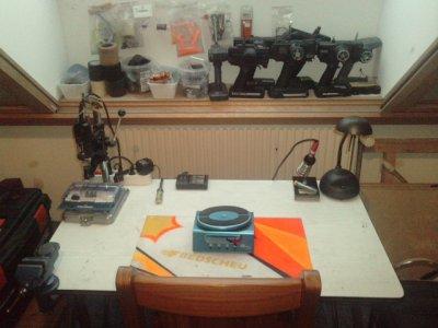 Mon petit atelier..Mais bientot,un plus grand... ;-)