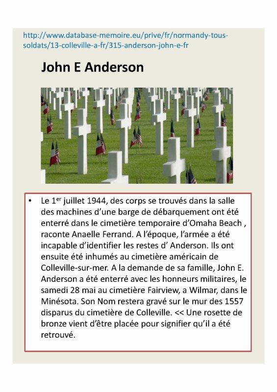 John E Anderson enfin identifi�