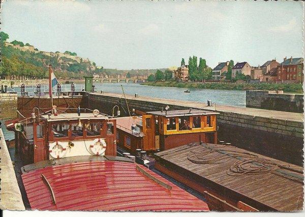 Namur  -  Barrage de La Plante en 1958  &  �cluse de La Plante, ann�es 1960... ;)