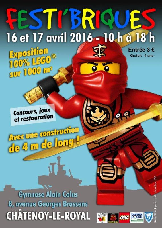Prochaine exposition Festibriques 16 et 17 avril 2016 à Châtenoy-Le-Royal 71880