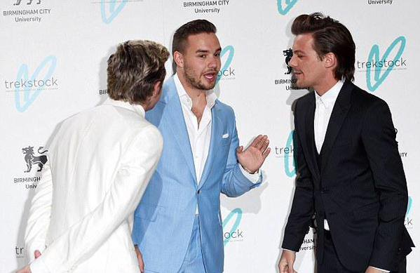Niall, Louis Liam et Sophia ce soir au Great Gatsby Ball pour Trekstock❤