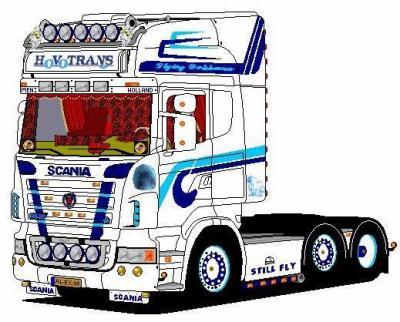 l'autre dessin scania - moi et les camions