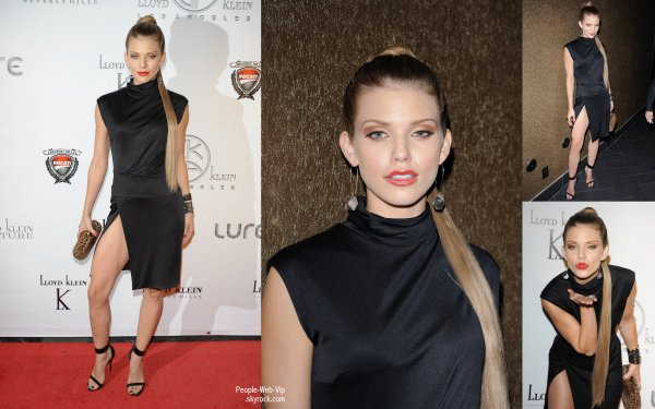 AnnaLynne McCord aper�u pendant le d�fil� Lloyd Klein 2013 Spring Collection