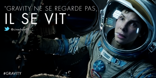 "GRAVITY :  Avec Sandra Bullock et George Clooney, "" Une p�pite """