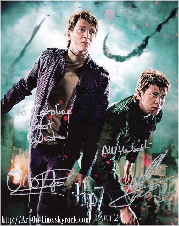 Fred et Georges WEASLEY (James et Oliver Phelps)