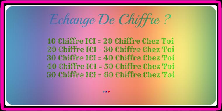 -=₪۩۞۩₪=- Echange Chiffre -=₪۩۞۩₪=-