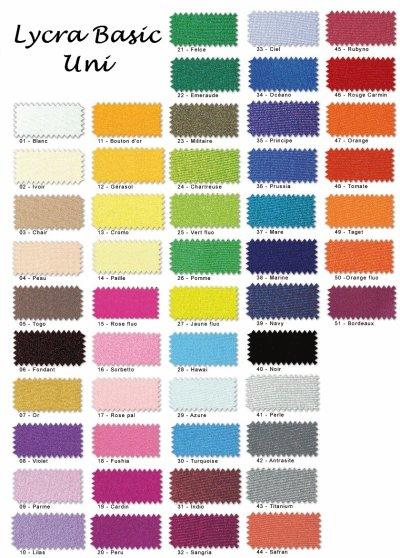 Les tissus l a cr ation cr ation de justaucorps - Les couleurs de tissus ...