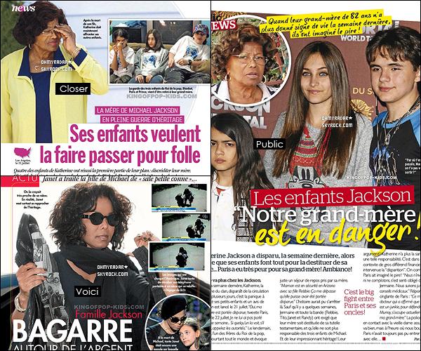 . Pendant les grandes vacances, les Jackson ont fait la une des magazines : Public, Voici et Closer. .