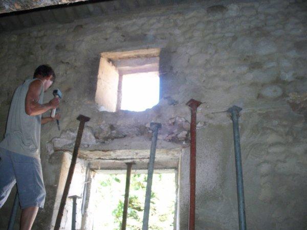 Hier changement d 39 un linteau de fen tre blog de renov for Changement de fenetre