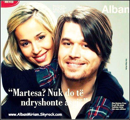 Alban Skenderaj Miriam Cani ne kopertinen e Gazetes Shqip♥♥