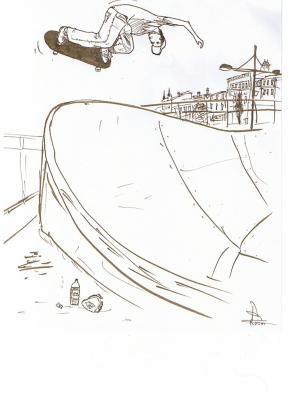 Blog de art74 le blog de mes quelques dessins - Dessin skateboard ...