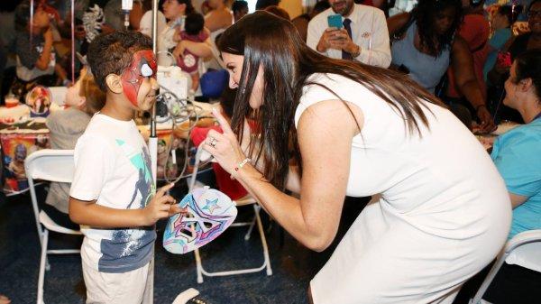 WWE Superstars visit The Children's Hospital at Montefiore.