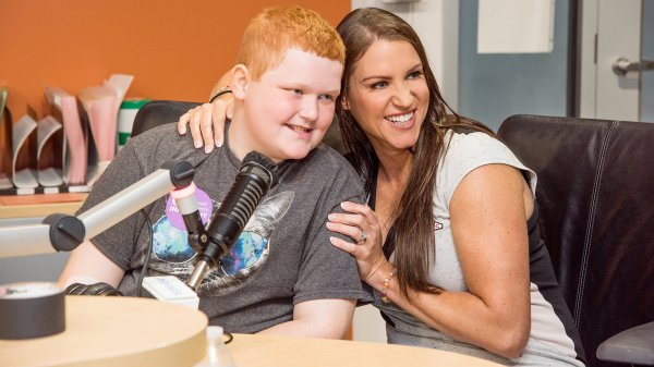 WWE Superstars visit Cincinnati Children's Hospital.