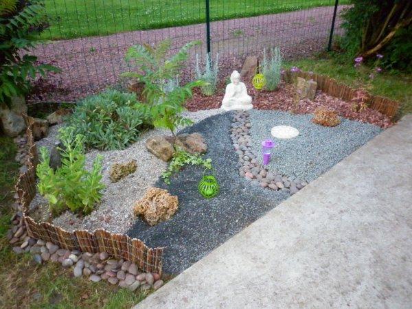 Notre jardin zen fait maison blog de crea caro 62 for Deco japonaise exterieur