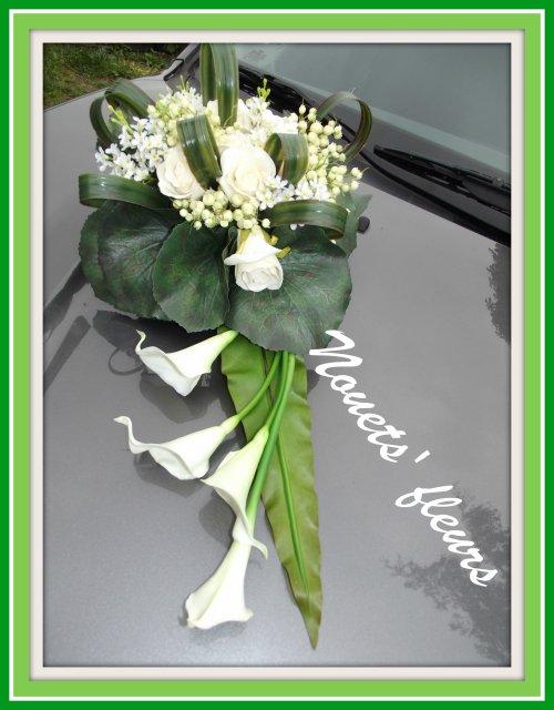 decoration voiture mariage capot ref dcoration de capot voiture quot douceur nouets - Fleurs Capot De Voiture Mariage