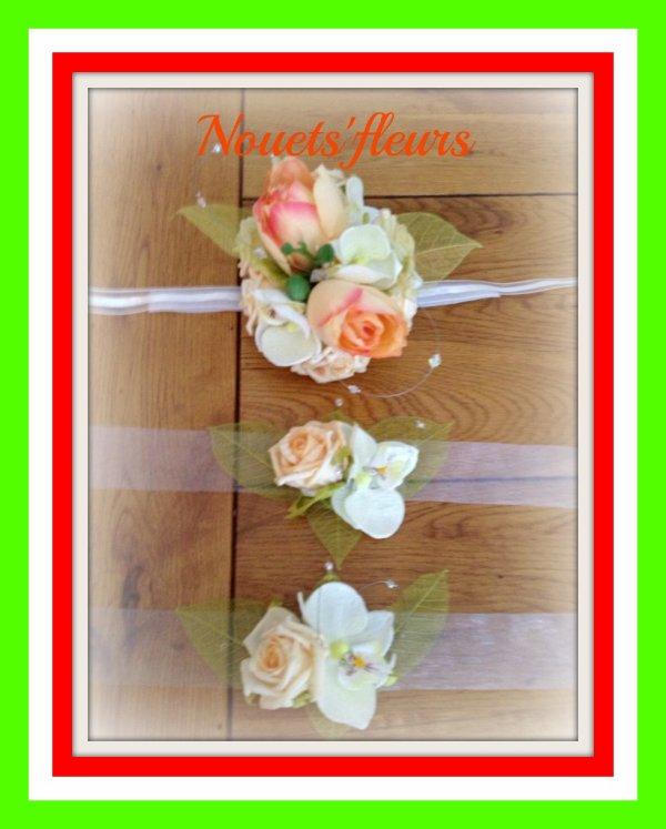 bracelet pour la mari e et demoiselle d 39 honneur blog de nouets 39 fleurs et de capbijou. Black Bedroom Furniture Sets. Home Design Ideas