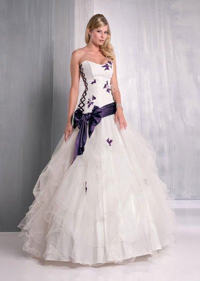 robe de mari e violette mariages On robe de mariée violette