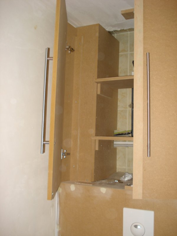Placard au dessus d 39 un wc suspendu 2 menuiserie am nagement int rieur for Amenagement wc suspendu