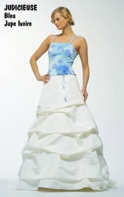 belles robes blog robe de mariee bleu et ivoire. Black Bedroom Furniture Sets. Home Design Ideas