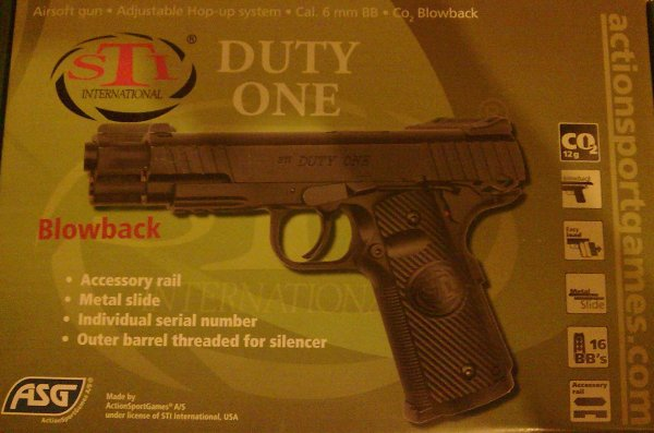 airsoft marque ASG STI DUTY ONE CO2