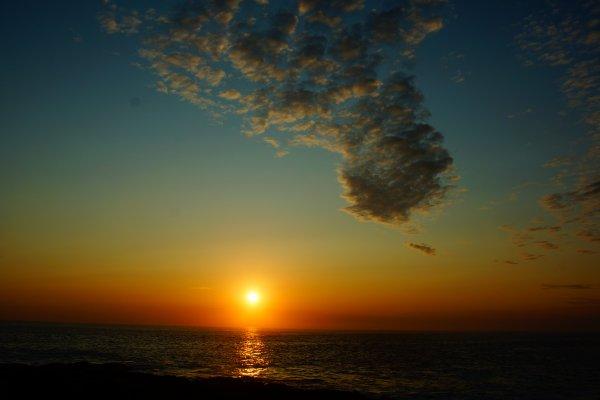 Superbe coucher de soleil hier soir