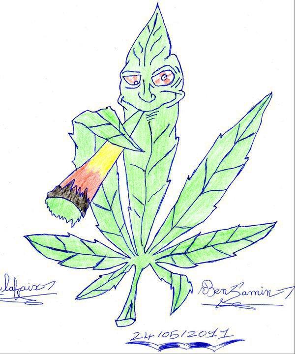 Dessin feuille de cannabis blog de benji03160 - Dessin de feuille ...