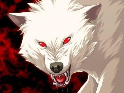 Louve blanche aux yeux rouges - Manga de loups