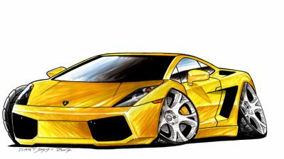 lamborghini gallardo par clavet design thomas 39 mes dessins et autres. Black Bedroom Furniture Sets. Home Design Ideas