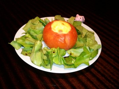 Tomate au souffl� au fromage