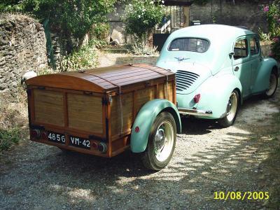 remorque de camping digue caravane ancienne de collection henon notin. Black Bedroom Furniture Sets. Home Design Ideas