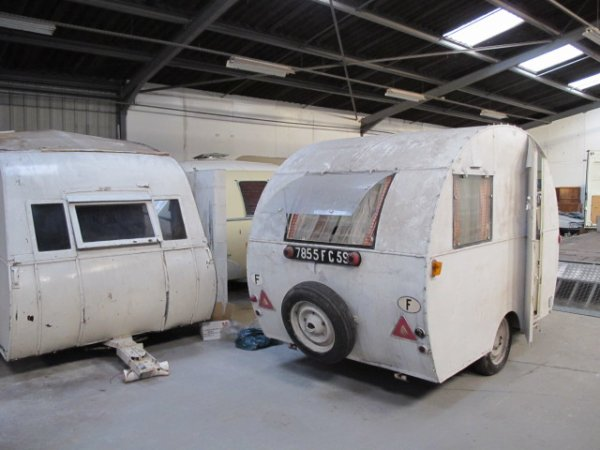 Caravane Familiale Lemahieuw 1952 Caravane Ancienne De