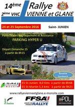 24 & 25 Septembre 2016 14�me Rallye R�gional Vienne et Glane
