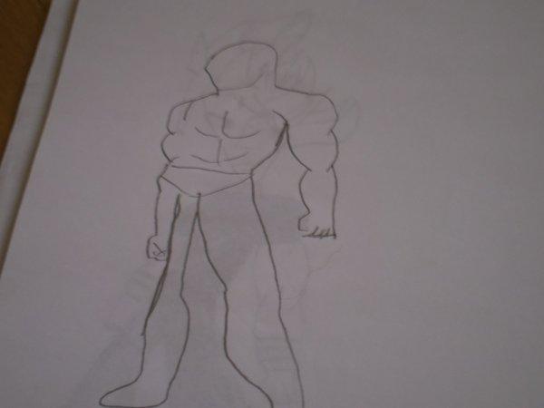 mon dessin d'un combattant debout