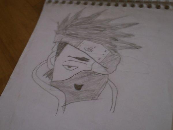 mon dessin de kakashi