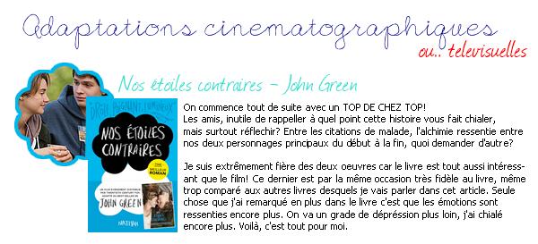 101EME ARTICLE : LIVRES/FILMS/SERIES, LEQUEL EST LE MEILLEUR? (part 1).